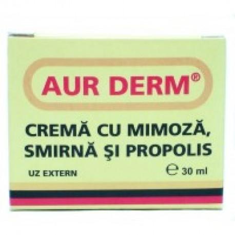 Aur Derm - Crema cu Mimoza, Smirna si Propolis - 30 ml