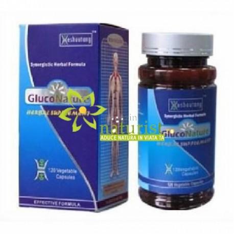 Gluconature 60 cps Tratare diabet 2