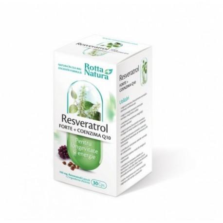 Resveratrol Forte coenzima Q10 30 cps