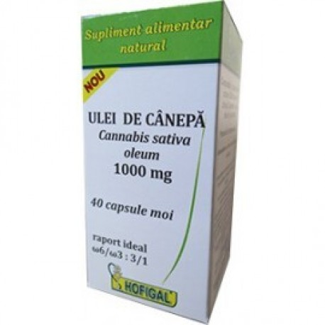 Ulei de canepa 1000 mg 40 cps moi