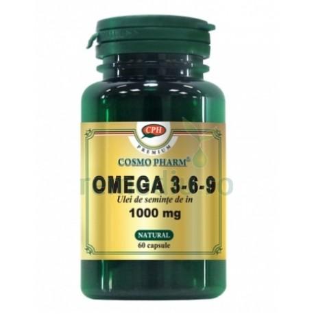 Ulei seminte de in omega 3 6 9 - 60 cps