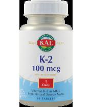 Vitamin K-2 100mcg 60tb